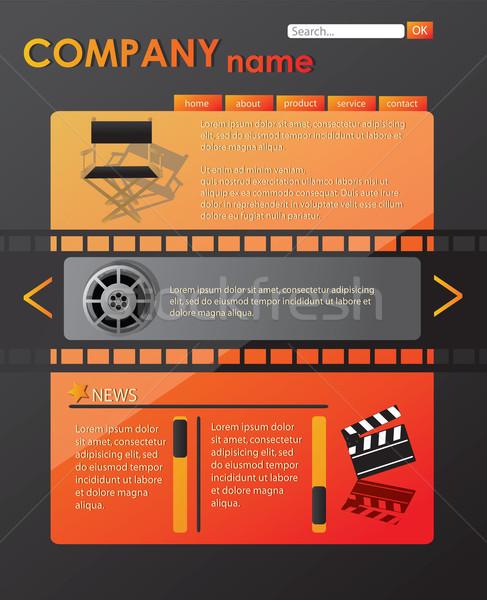Website template, vector Stock photo © BlueLela