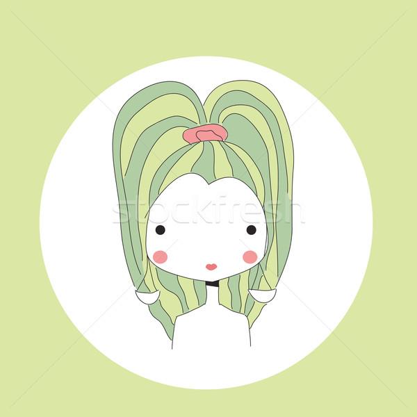 Horoscope Libra sign, girl head Stock photo © BlueLela