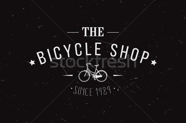 Vintage retro insignia sello etiqueta placa Foto stock © BlueLela
