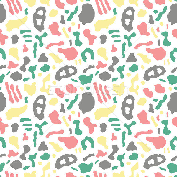 Seamless pattern with organic rounded and stripe shapes Stock photo © BlueLela