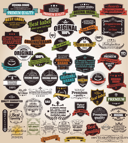 Toplama bağbozumu Retro etiketler rozetler pulları Stok fotoğraf © BlueLela