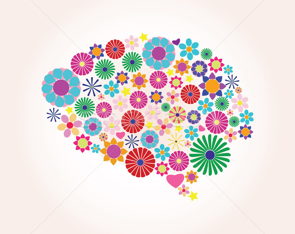 Abstract human brain, creative, vector Stock photo © BlueLela