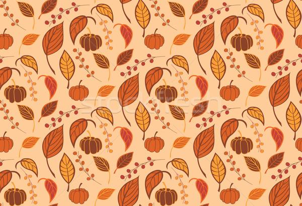 Halloween abóboras folhas natureza tecido Foto stock © BlueLela