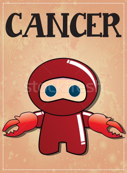 Dierenriem teken kanker cute zwarte ninja Stockfoto © BlueLela