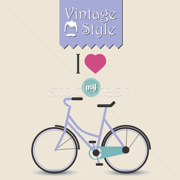 Vintage велосипед лице спорт волос Сток-фото © BlueLela