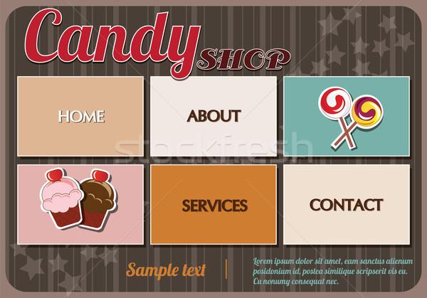 Website template design elements Stock photo © BlueLela