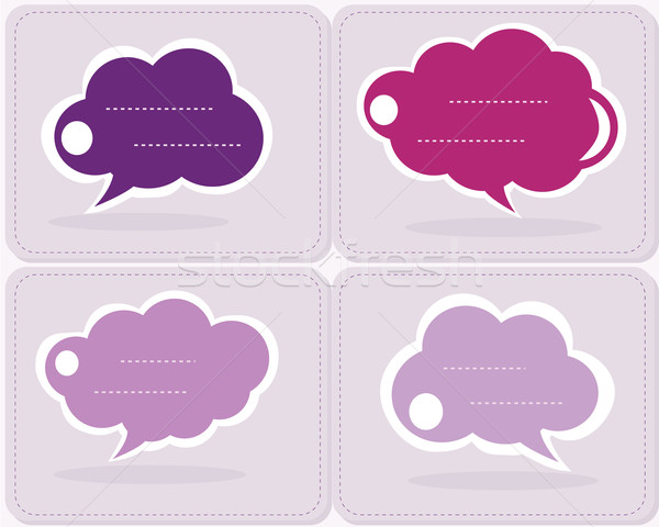 Collection of colorful info speech clouds Stock photo © BlueLela