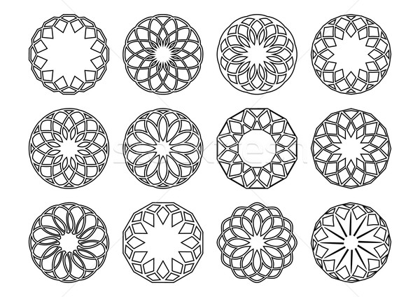 Round geometric ornaments Stock photo © blumer1979