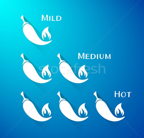 Vector chilli peppers scale Stock photo © blumer1979