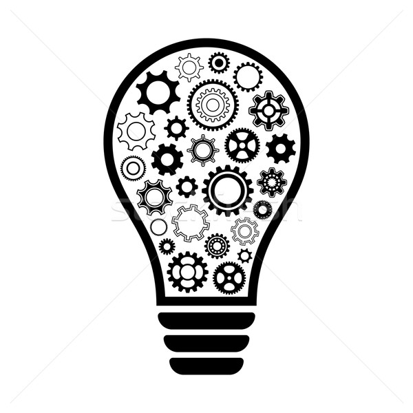 Light bulb with gear wheels Stock photo © blumer1979