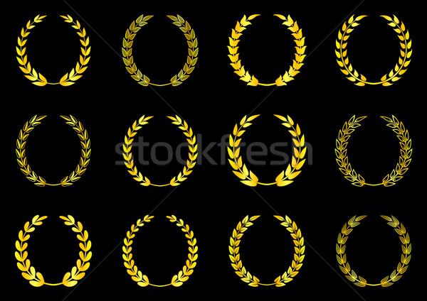 Defne toplama altın vektör siyah spor Stok fotoğraf © blumer1979