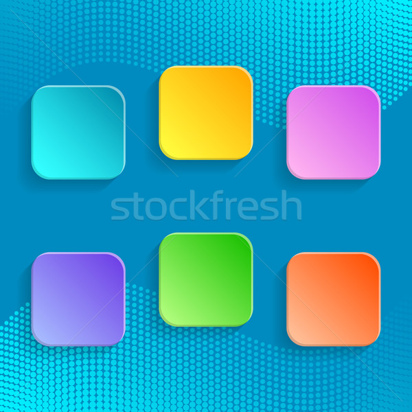 Blank colorful buttons  Stock photo © blumer1979