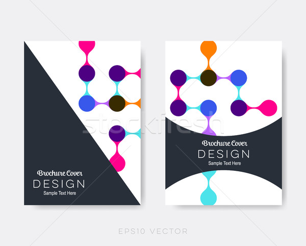Creative modernes brochure design modèles science Photo stock © blumer1979