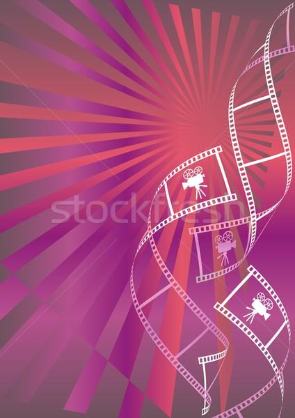 Film brillant rouge violette film Photo stock © blumer1979
