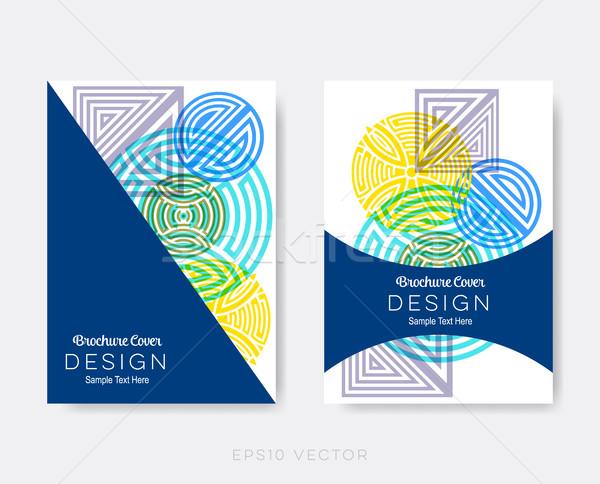 Creative modernes brochure design modèles résumé Photo stock © blumer1979