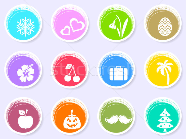 Vector calendar labels with month symbols Stock photo © blumer1979
