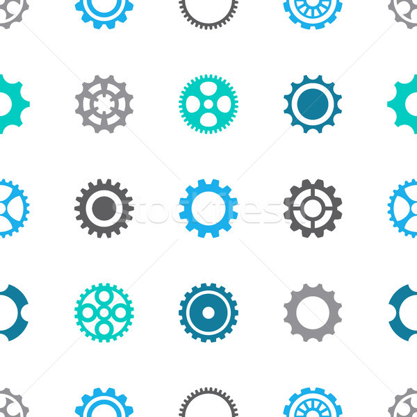 Gear wheels vector seamless pattern Stock photo © blumer1979