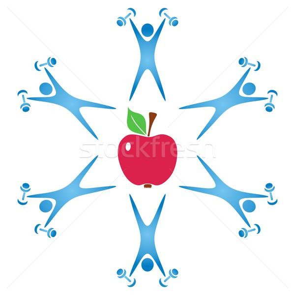 Zdrowia żywności symbol zdrowa żywność fitness jabłko Zdjęcia stock © blumer1979