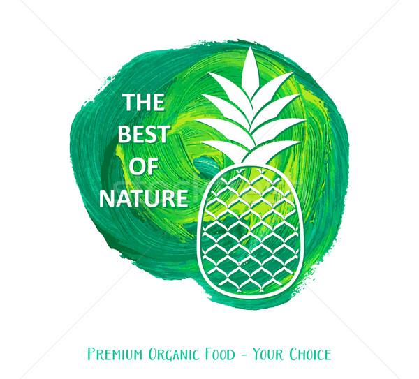 Meilleur nature design vert vecteur affaires Photo stock © blumer1979