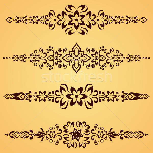 Vintage ornement brun vecteur design Photo stock © blumer1979