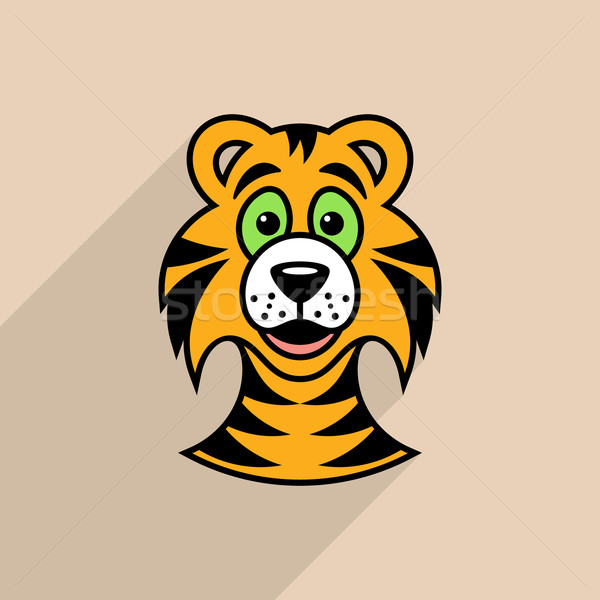 Tiger cartoon face Stock photo © blumer1979