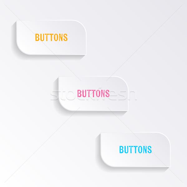 Blanco vector progreso botones oscuridad resumen Foto stock © blumer1979