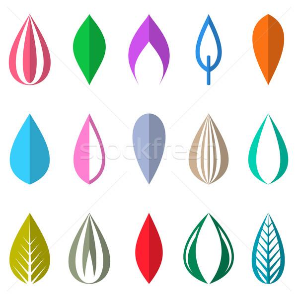 Coloré simple laisse isolé différent origami Photo stock © blumer1979