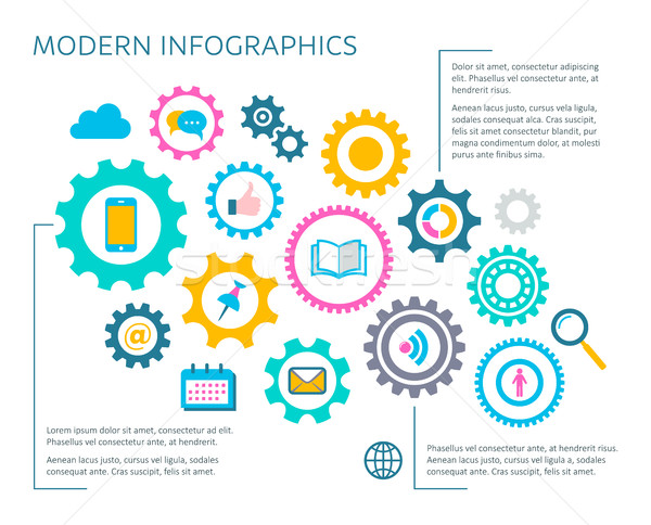 Moderna vector infografía plantilla de diseño multimedia iconos Foto stock © blumer1979
