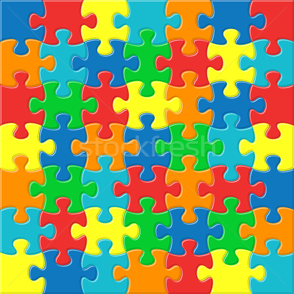 Background with joined puzzle pieces Stock photo © blumer1979
