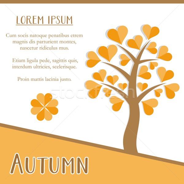 Autumn season card Stock photo © blumer1979