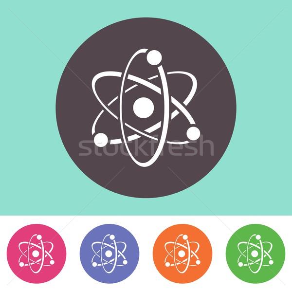 átomo ícone vetor colorido botões projeto Foto stock © blumer1979
