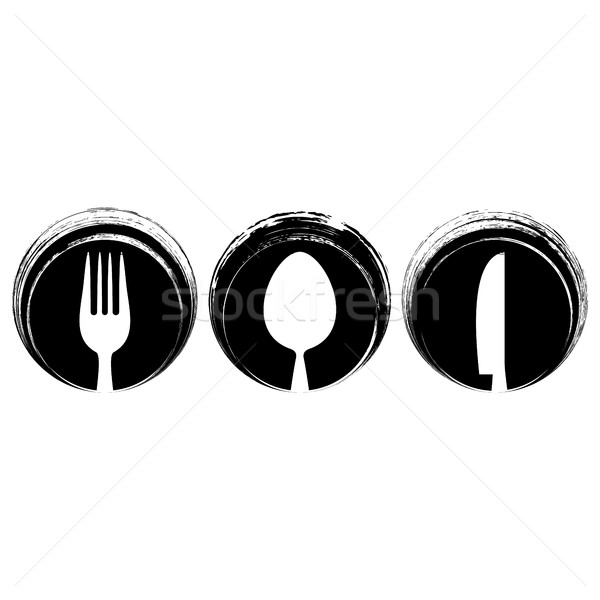 Black abstract restaurant menu design Stock photo © blumer1979