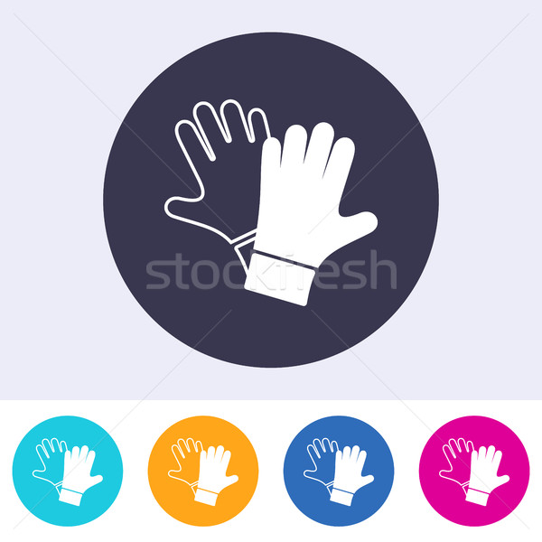 Protective gloves must be worn icon Stock photo © blumer1979