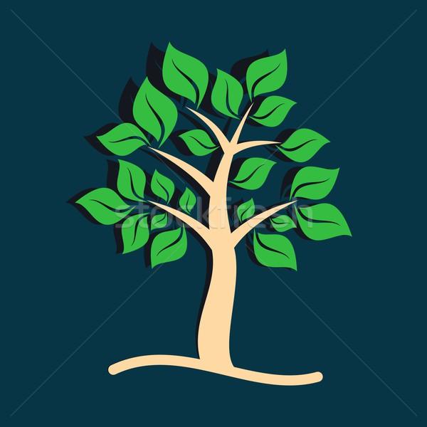 дерево красивой коричневый зеленые листья компьютер природы Сток-фото © blumer1979