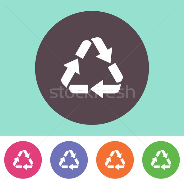 Recycle symbol icon Stock photo © blumer1979