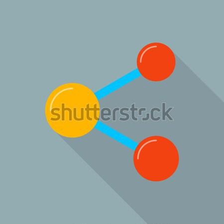 Photo stock: Vecteur · icône · longtemps · ombre · design · simple