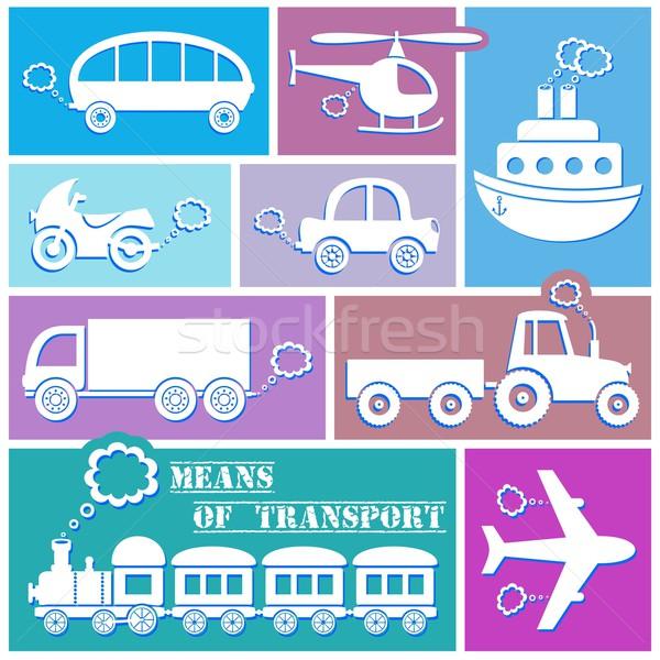 Transport icons Stock photo © blumer1979
