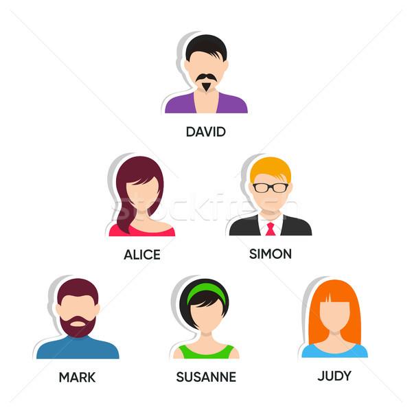 Photo stock: équipe · web · page · présentation · design · vecteur