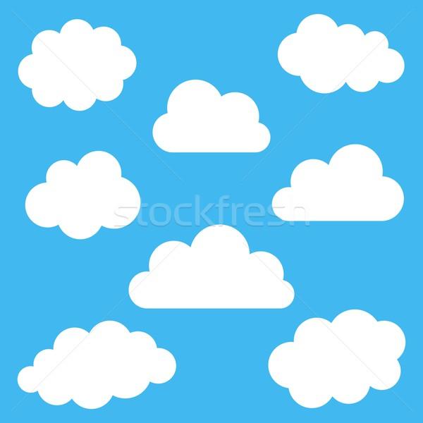 Nuvens conjunto branco azul água Foto stock © blumer1979
