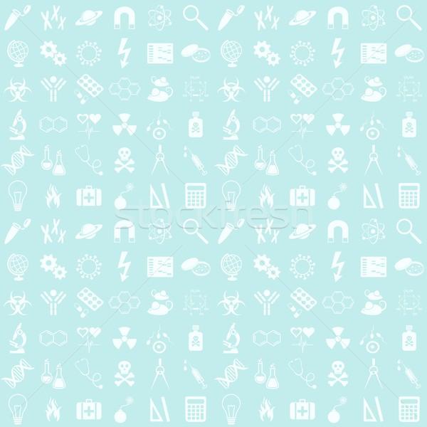 Ciencia azul sin costura vector patrón Foto stock © blumer1979