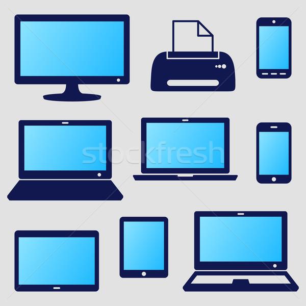 Digital device icons Stock photo © blumer1979