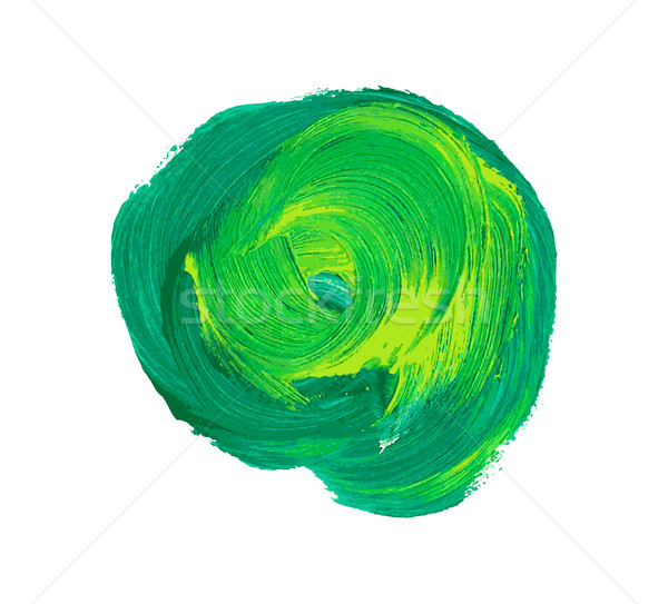 Green vector watercolor paint stain Stock photo © blumer1979
