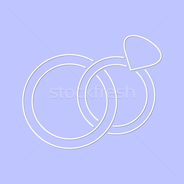 Beyaz basit vektör alyans ikon ince Stok fotoğraf © blumer1979