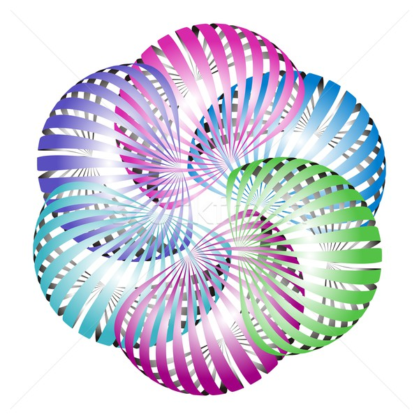Abstract flower icon Stock photo © blumer1979