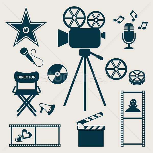 Stock photo: Movie icons