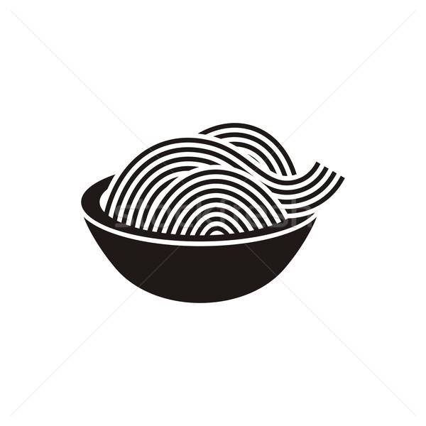 Spaghetti icon eenvoudige zwarte vector Stockfoto © blumer1979