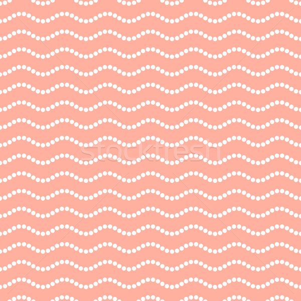 Pointillé ondulés ligne modèle blanche Photo stock © blumer1979