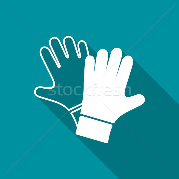 Vector protective gloves pair icon Stock photo © blumer1979