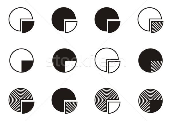 Pie chart diagram icons Stock photo © blumer1979