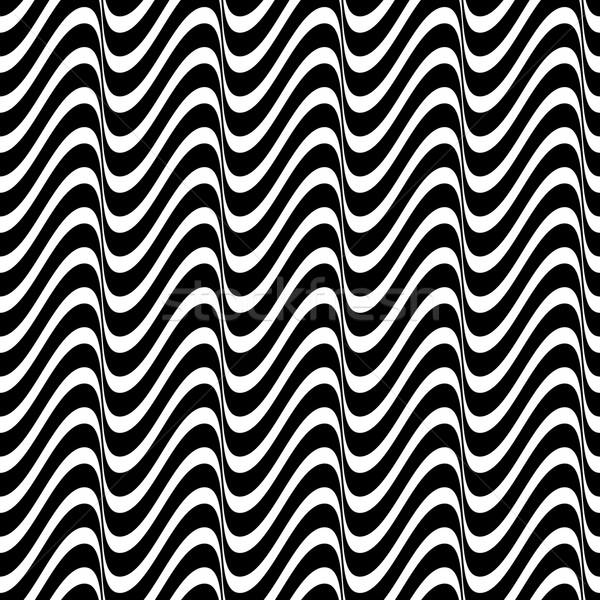 Seamless wavy line pattern  Stock photo © blumer1979